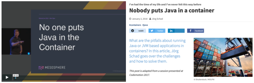 Nobody puts java in containers